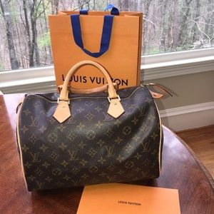 Authentic Louis Vuitton Speedy 30 all new vachetta